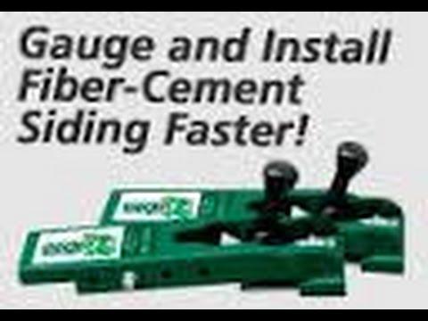 Gecko Gauge. One Person Gauge And Install Fiber Cement.