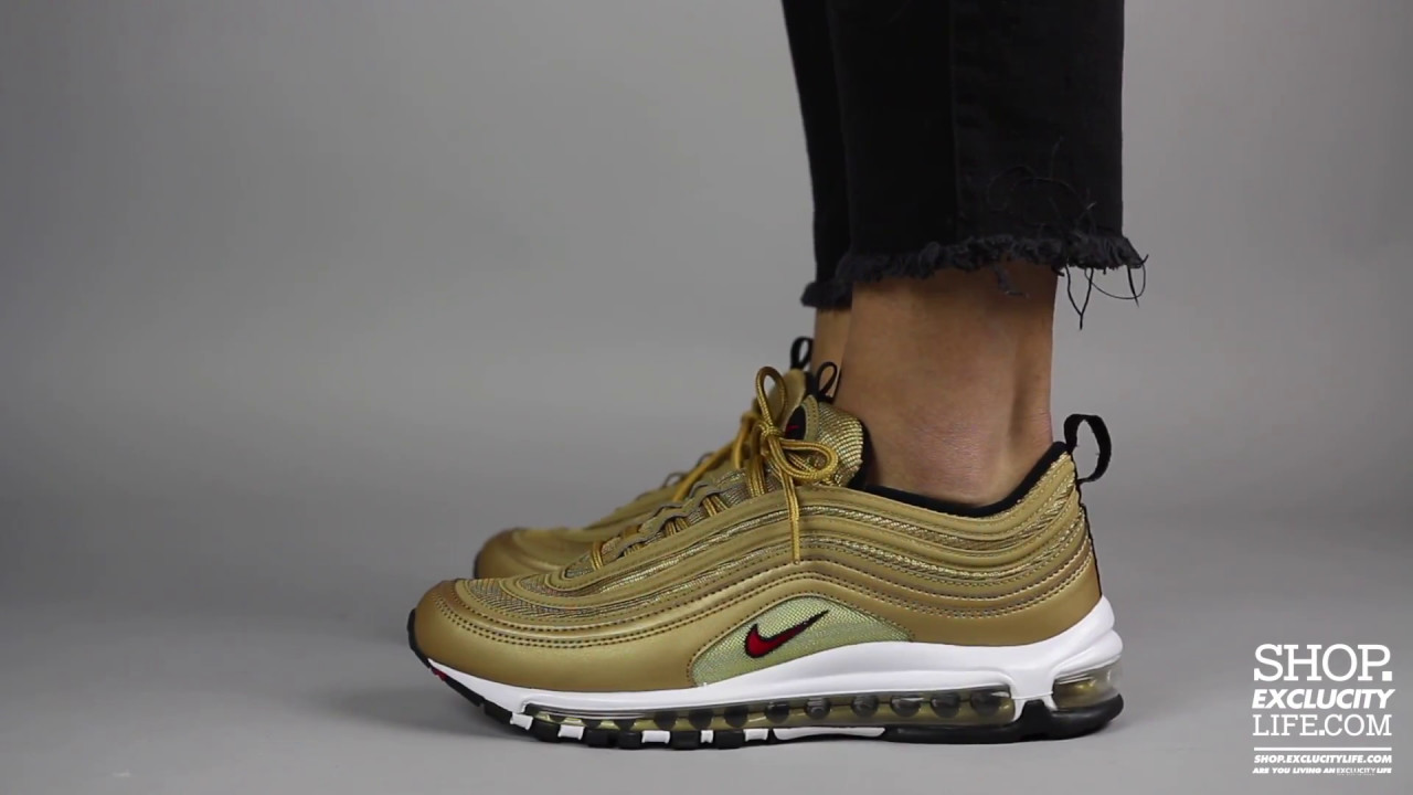 nike air max 97 metallic gold women's pants