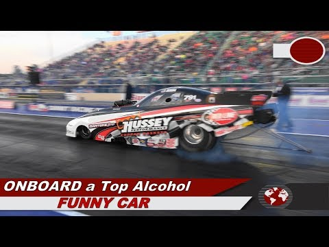 Onboard a Top Alcohol Funny Car. Hear the supercharger scream!