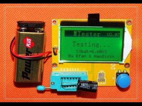 Unboxing Review Cheap Capacitor ESR Electronic Component Meter Tester