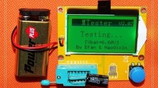 Unboxing Review Cheap Capacitor ESR Electronic Component Meter Tester(Quick review of a cheap capacitor ESR meter and component tester from China. Cost $15 all-in (with free shipping). It checks capacitors, resistors, transistors, ..., 2014-12-07T21:58:50.000Z)