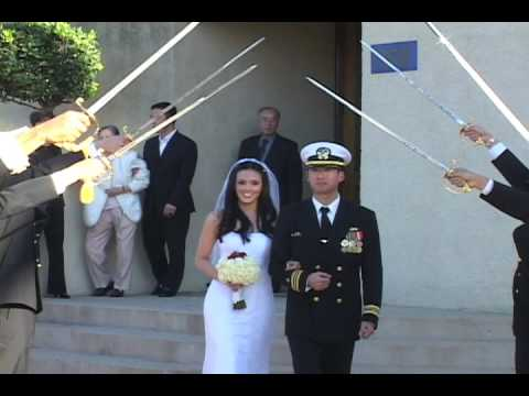 Arch Of Sabers Sword Ceremony At Navy Wedding