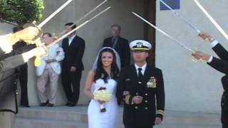 Arch of Sabers (Sword) Ceremony at Navy Wedding