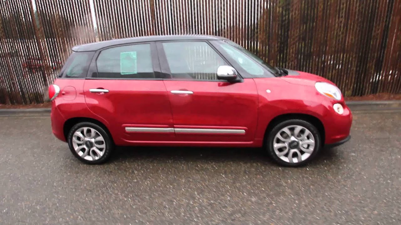 2014 fiat 500l lounge lava red ez013479 redmond seattle youtube. Black Bedroom Furniture Sets. Home Design Ideas