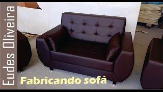 Fazendo um sofá./ making a sofa