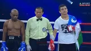 Узбекиский молодой боксер нокаутировал соперника за 30 секунд