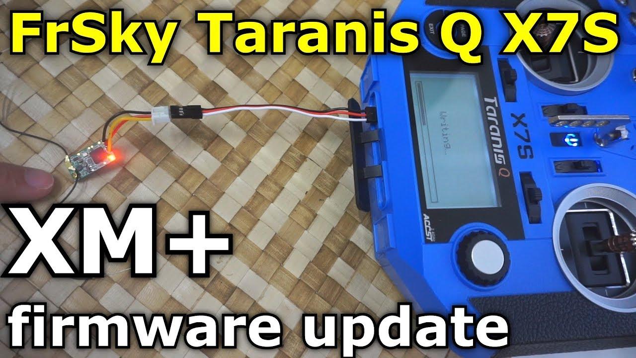 FrSky XM+ receiver firmware update (RSSI value constant, Taranis Q X7S)