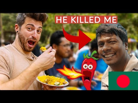 🇧🇩 Bangladesh Street Food KILLED ME!!! SPICY LEVEL 1000!!! With Tiham Traveler