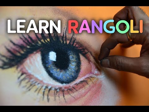 How to draw an eye with Rangoli | hyper realistic eye rangoli | learn rangoli | hyper realistic art