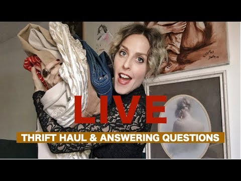 LIVE OCTOBER THRIFT  HAUL AND EXCITING GIVEAWAY