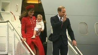 William e Kate in Nuova Zelanda con baby George