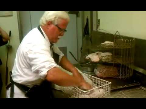 Colonel Sanders making chicken at the Clinton KFC  YouTube