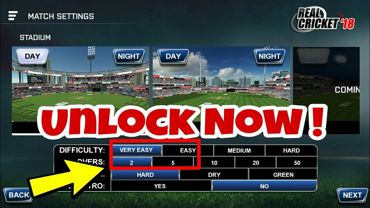 How To Unlock 2 Or 5 Overs Matches In Real Cricket 18