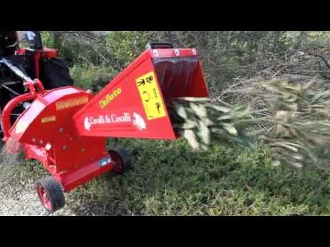 Biotrituratore cippatore con trattore carraro3200 prova su for Trattori agricoli usati in sardegna