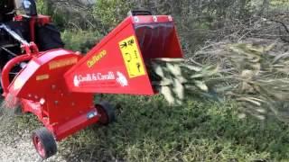 biotrituratore cippatore con trattore Ca...