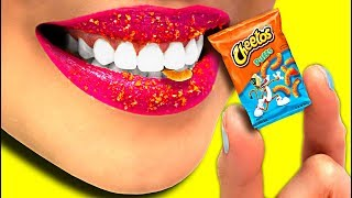 WOW! Mini Miniature Cheetos Puffs DIY!!! So Funny! (CC Available)