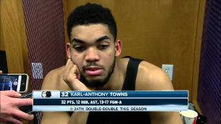 Karl-Anthony Towns is disappointed in himself after putting up 32 points