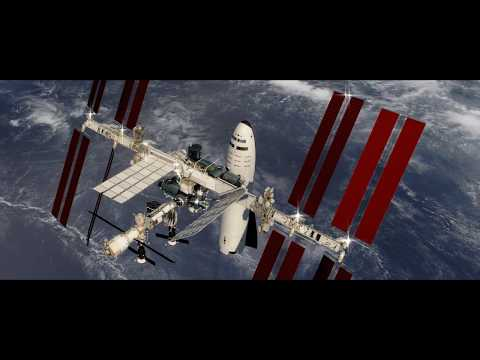SpaceX BFS Arrives at ISS animation