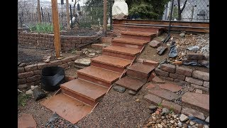 How to build flagstone steps
