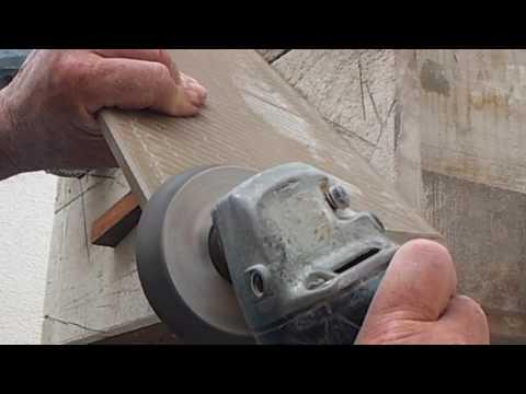 Cortando porcelanato em 45 graus, com mesa caseira