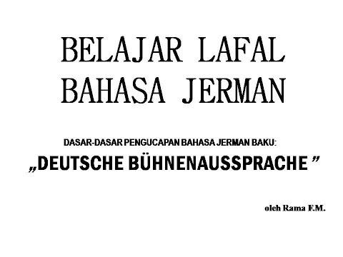 BELAJAR LAFAL BAHASA JERMAN