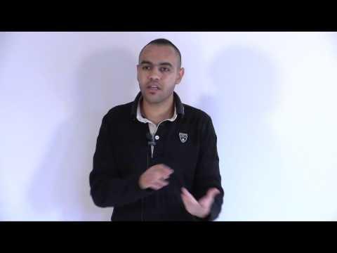 Nayef Haib explaining Israeli-Palestinian conflict