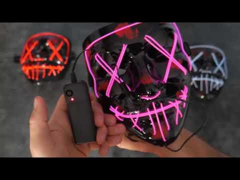 Светящаяся неоновая маска СУДНАЯ НОЧЬ или МАСКА АПОКАЛИПСИСА