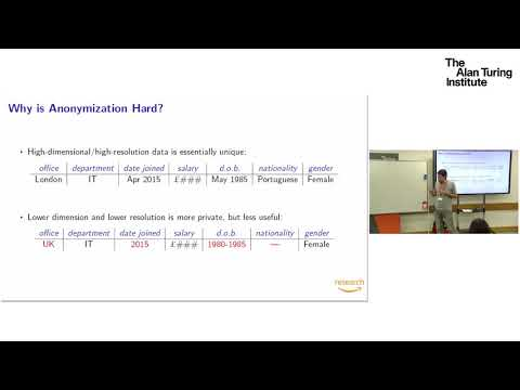 A Short Tutorial On Differential Privacy: Dr Borja Balle, Amazon Research
