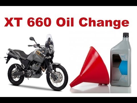 Yamaha XT 660 Oil & Filter Change - Step by Step Guide