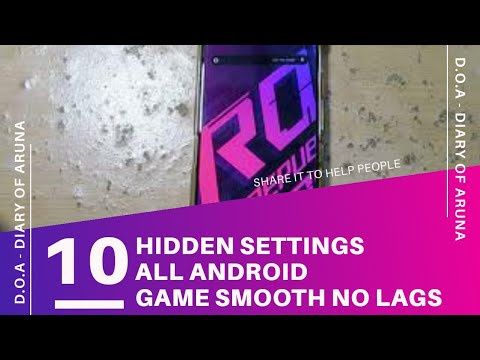 10 Hidden Settings To Make Better Performance Before Using Gltools No Root Rog Phone All Androids Youtube