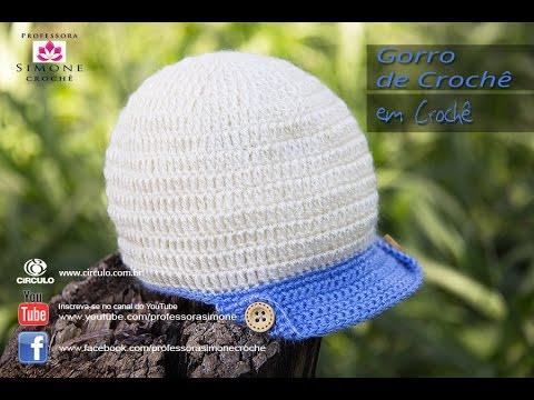 Gorro Bebê de Crochê - Professora Simone - YouTube ffb3966d956