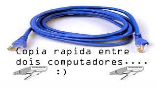 Como ligar 2 computadores com cabo de rede ( ethernet)