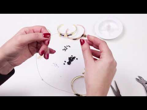 Bijoux à faire soi-même : Bracelets en métal DQ avec perles ♡ DIY