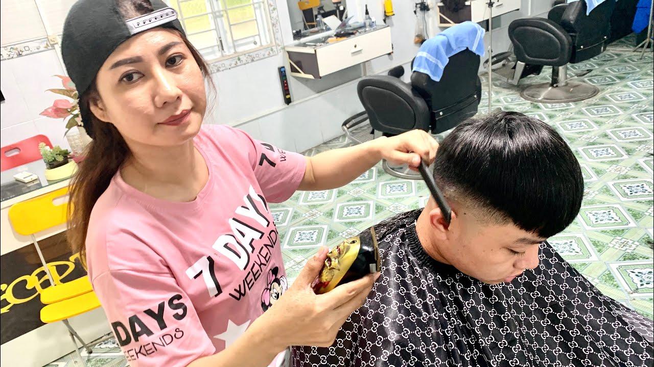 Hướng dẫn con gái học cắt tóc Nam | Xem và cảm nhận