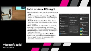 Ingestion in data pipelines with Managed Kafka Clusters in Azure HDInsight : Build 2018