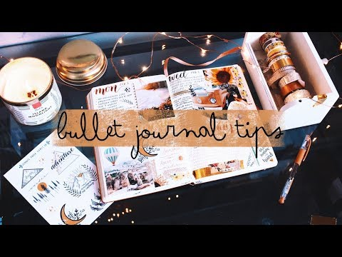 Bullet Journal Tips 💖 (+ how I layout my weekly spreads!)