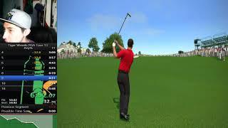 TIGER WOODS PGA TOUR 13 [Masters Courses] 18 hole = E Speedrun in (14:02)