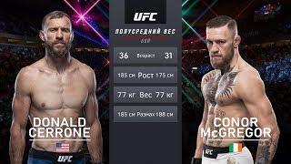 КОНОР МАКГРЕГОР vs ДОНАЛЬД СЕРРОНЕ БОЙ в UFC / UFC 246