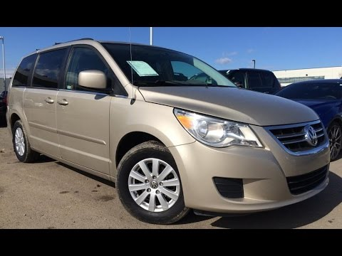 Pre Owned Gold 2009 Volkswagen Routan Trendline Walk Around Review Fort McMurray Alberta