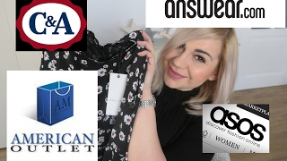 FASHION HAUL - C&A, Asos, American Outlet