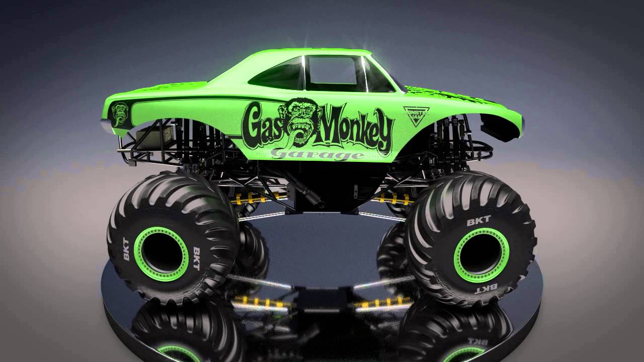 Toy Cars Wallpapers All New Monster Jam Truck Gas Monkey Garage Youtube