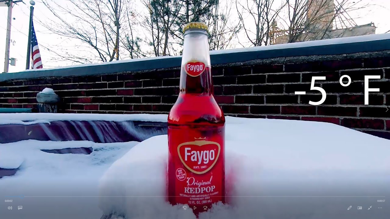 Subzero Temps Make A Faygo Redpop Slushie In Under An Hour