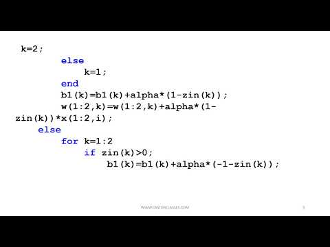 MATLAB Simulation of M adaline