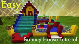 Minecraft Tutorial How To Make A Bouncy House