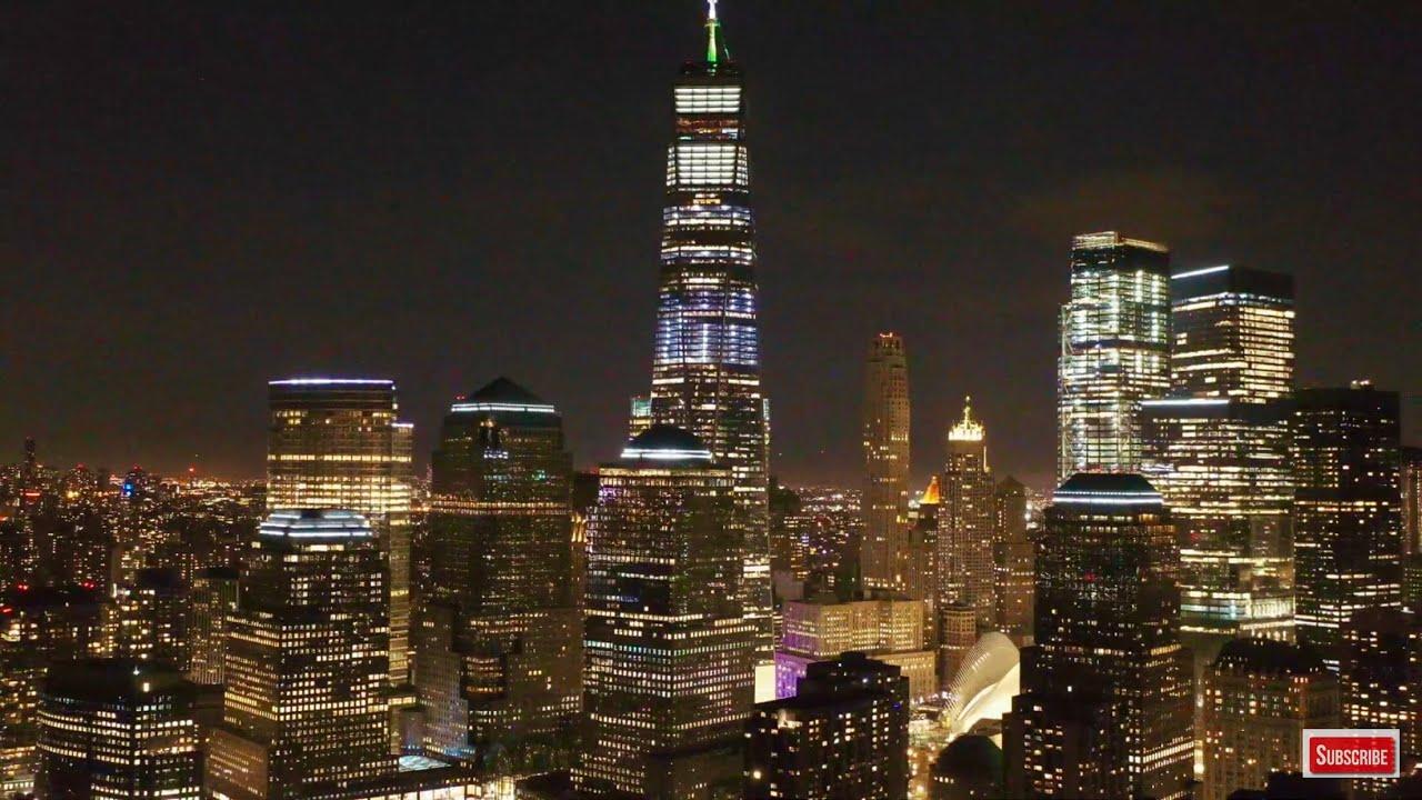 New york skyline at night live screensaver hd nyc skyline aerial landscapes wallpaper hd live - Skyline night wallpaper ...