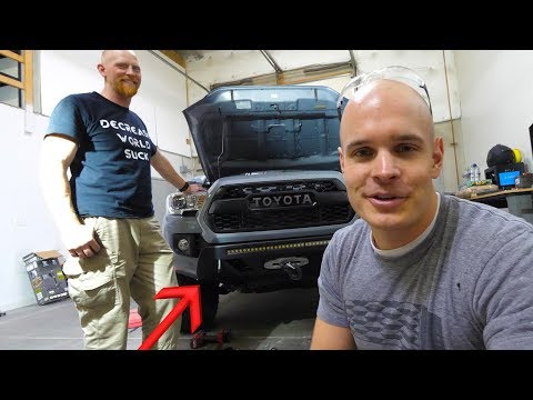 Tacoma C4Fab Low-Profile Metal Off-Road Winch Bumper Installation
