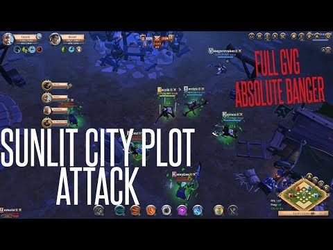 Sunlit City Plot Last Shield Attack FULL GvG -- Absolute BANGER -- Albion Online MG vs. Famiglia