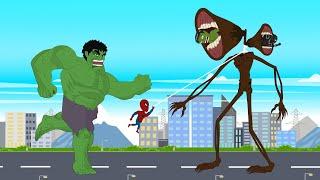Super Hero: Hulk vs Spider Man: Siren Head Swallow Black Panther [HD]   Roblox Godzilla Animation