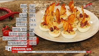 Фаршировані яйця по-мексиканськи - рецепти Сенічкіна