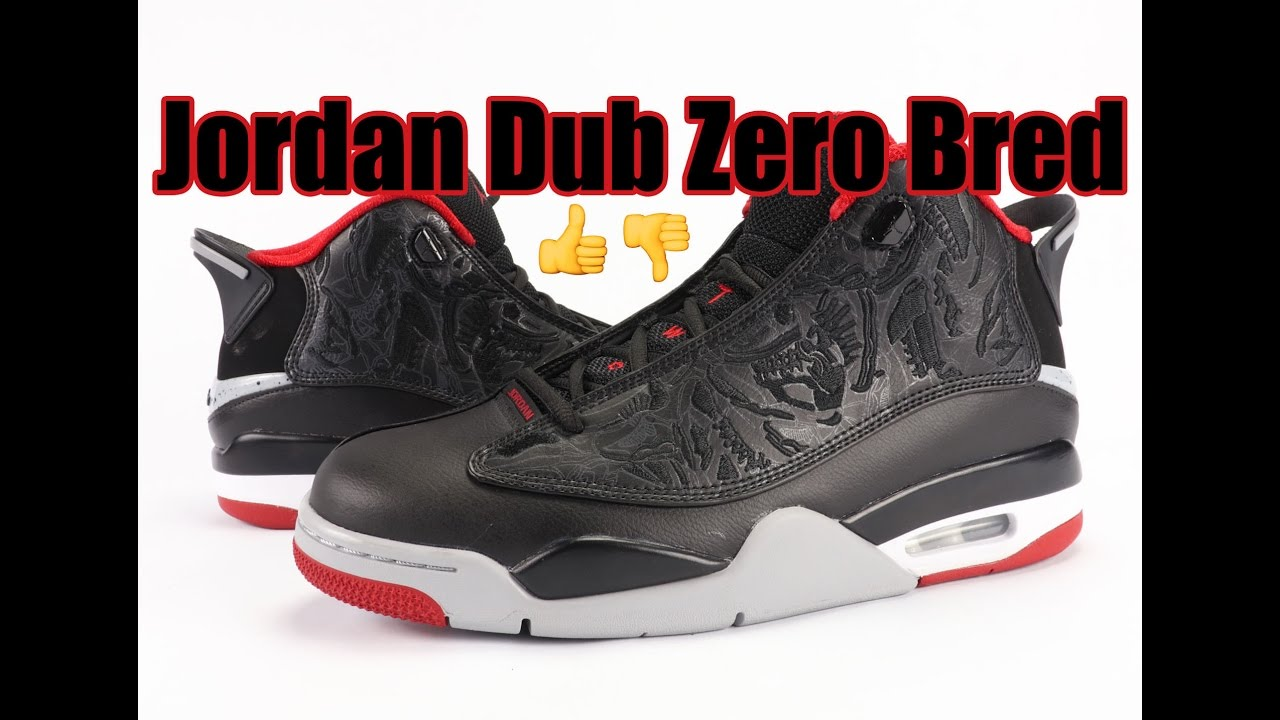 Jordan Dub Zero Bred Black Red 2016 Review